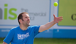 LIVERPOOL, ENGLAND - Sunday, June 21, 2015: LCC players during Day 4 of the Liverpool Hope University International Tennis Tournament at Liverpool Cricket Club. (Pic by David Rawcliffe/Propaganda)
