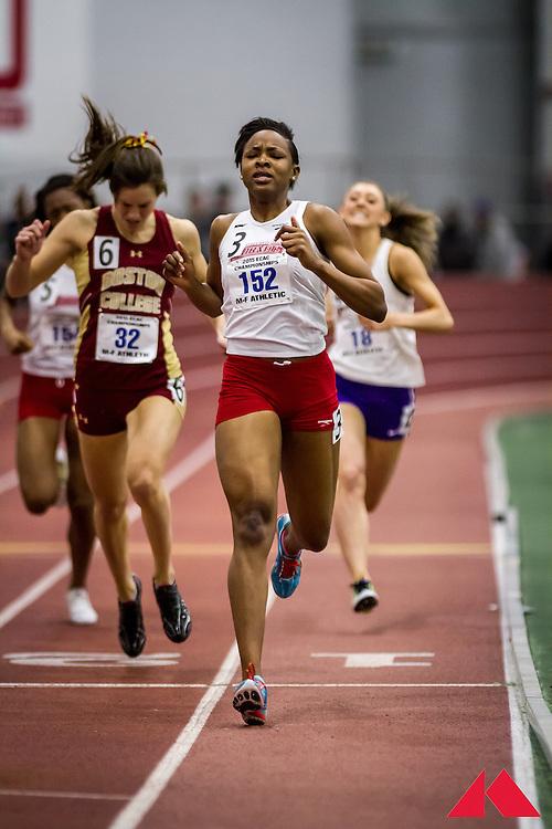 ECAC Indoor Champs, womens 400 heat 2 Gordon, Omealla           SO Delaware State