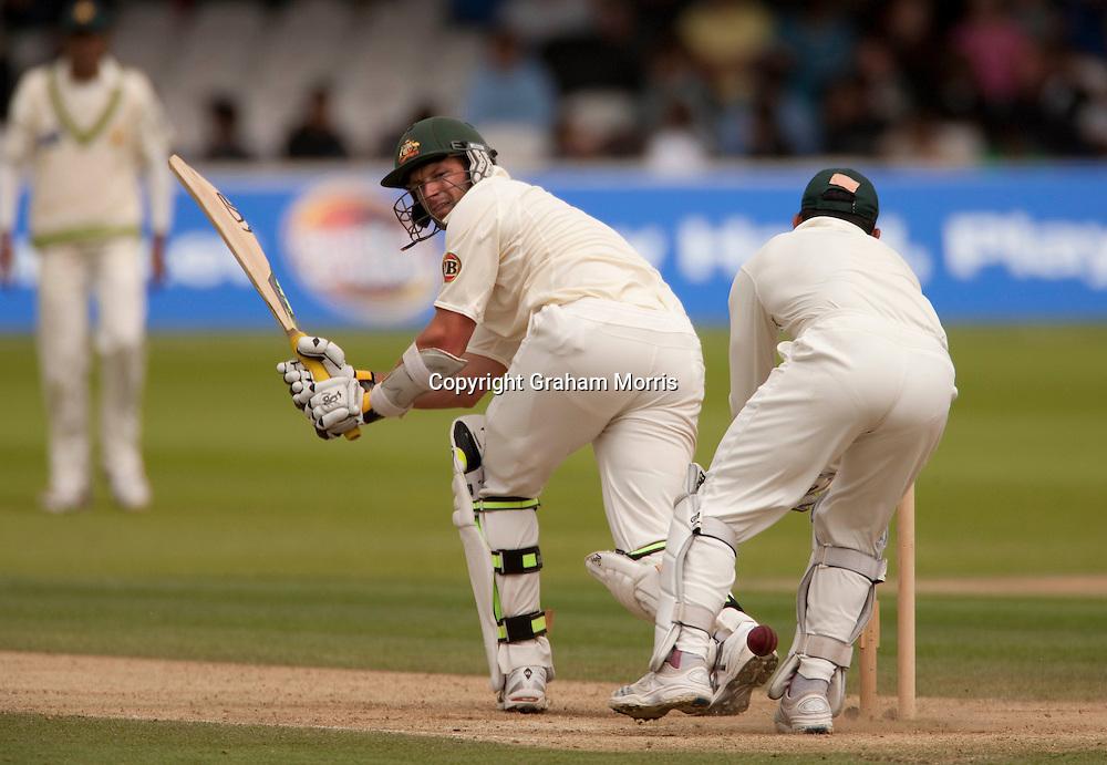 Ben Hilfenhaus bats during the MCC Spirit of Cricket Test Match between Pakistan and Australia at Lord's.  Photo: Graham Morris (Tel: +44(0)20 8969 4192 Email: sales@cricketpix.com) 15/07/10
