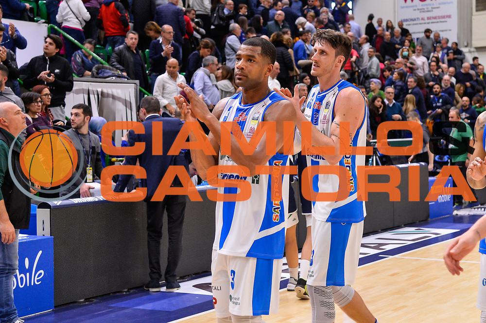 Joshua Bostic, Achille Polonara<br /> Banco di Sardegna Dinamo Sassari - Germani Basket Leonessa Brescia<br /> Legabasket Serie A LBA PosteMobile 2017/2018<br /> Sassari, 08/04/2018<br /> Foto L.Canu / Ciamillo-Castoria