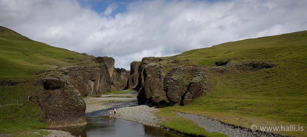 The canyon, Fjadrargljufur near Kirkjubaejarklaustur on the south coast of Iceland - Fjaðrárgljúfur við Kirkjubæjarklaustur,