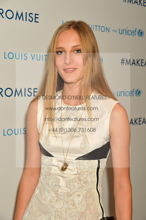 OLYMPIA CAMPBELL at the Louis Vuitton for Unicef Event #MAKEAPROMISE held at The Apartment, 17-20 New Bond Street, London on 14th January 2016.