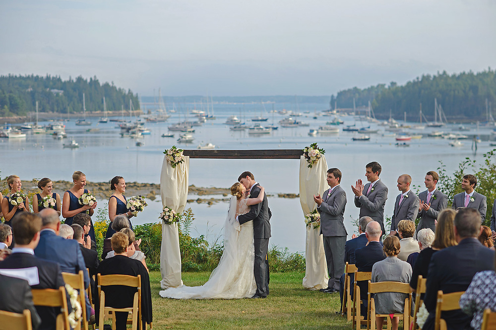 Fall wedding at the Asticou outside of Bar Harbor, Maine on Mt. Desert Island with Maine Seasons Events.