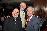 Jools Holland, John Deacon and Lord Levy, the 2011 MITs Award. Held at the Grosvenor Hotel London in aid of Nordoff Robbins and the BRIT School. Monday, Nov.7, 2011