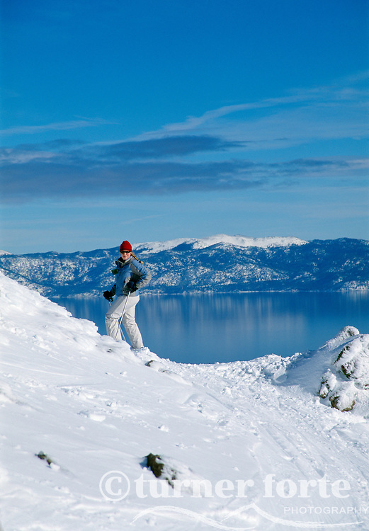 Skiing Alpine Meadows, Lake Tahoe, California
