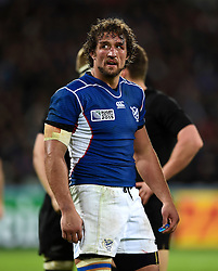 Jacques Burger of Namibia - Mandatory byline: Patrick Khachfe/JMP - 07966 386802 - 24/09/2015 - RUGBY UNION - The Stadium, Queen Elizabeth Olympic Park - London, England - New Zealand v Namibia - Rugby World Cup 2015 Pool C.