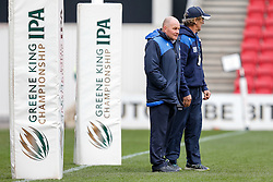 Bristol Rugby Director of Rugby Andy Robinson and Bristol Rugby Forwards Coach Mark Bakewell - Mandatory byline: Rogan Thomson/JMP - 06/03/2016 - RUGBY UNION - Ashton Gate Stadium - Bristol, England - Bristol Rugby v Cornish Pirates - Greene King IPA Championship.