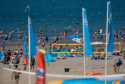 25-08-2019 NED: DELA NK Beach Volleyball, Scheveningen<br /> Last day NK Beachvolleyball / beach, volleyball, sea, flags