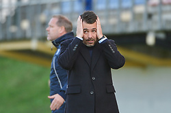 Freyr Alexandersson head coach of Iceland during women football match between National teams of Slovenia and Iceland in 2019 FIFA Women's World Cup qualification, on April 06, 2018 in Sportni park Lendava, Lendava, Slovenia. Photo by Mario Horvat / Sportida