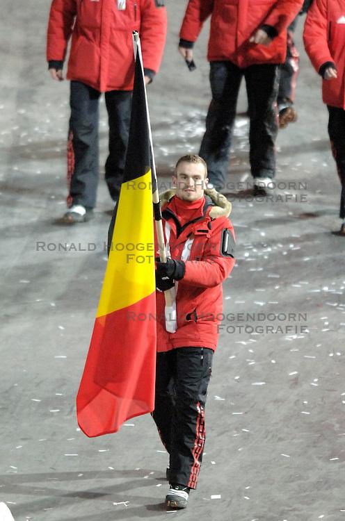 10-02-2006 ALGEMEEN: OLYMPISCHE SPELEN: TORINO<br /> Openingsceremonie OS 2006 / Belgie<br /> &copy;2006-WWW.FOTOHOOGENDOORN.NL