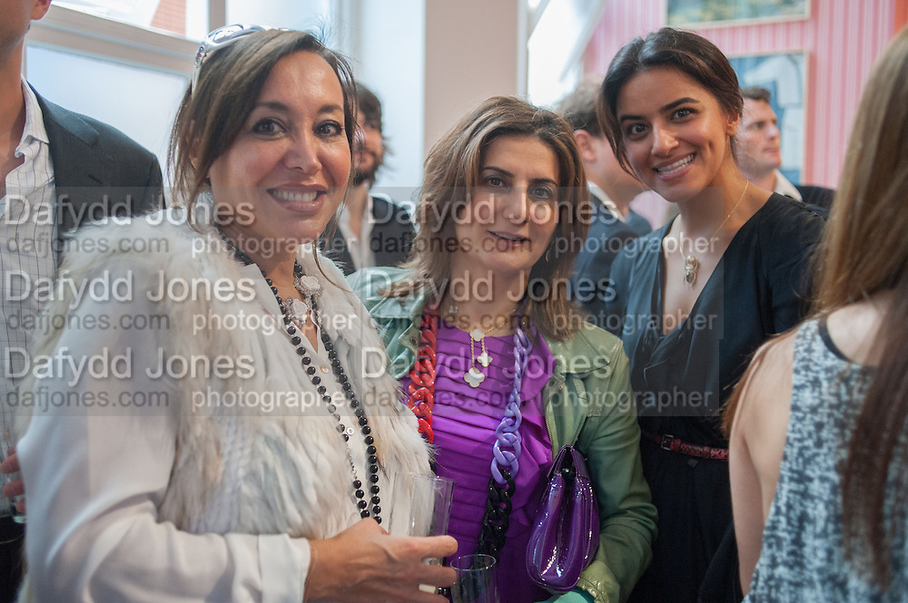 JUDI PIGOTT; MONA KHASHOGGI; SHARIFA AL SUDAIR, Yto Barrada opening. Pace London Soho. Lexington St. and afterwards at La Bodega Negra. Old Compton St. 23 May 2012.