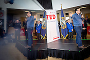 Republican Presidential Candidate Sen. Ted Cruz (TX) holds a campaign event at a Toyota car dealer in Portsmouth, NH. ahead of the Tuesday primary election.