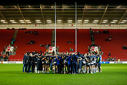 Bristol Rugby players huddle after losing only their second match of the season - Mandatory byline: Rogan Thomson/JMP - 06/11/2015 - RUGBY UNION - Ashton Gate Stadium - Bristol, England - Bristol Rugby v Doncaster Knights - Greene King IPA Championship.