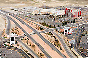 Primm is a small commercial desert community in Clark County, Nevada, located 40 miles from Las Vegas.  It is the first settlement after crossing the Nevada state line from California on Interstate 15.  It owes its economic success- despite its highly isolated location- to the interstate, which draws thousands across the California border to take advantage of Nevada's relaxed gambling laws.