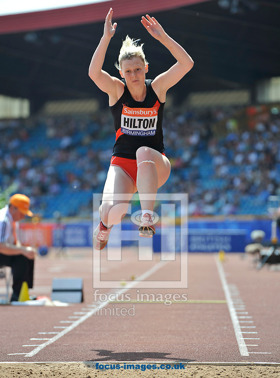 Picture by Alan Stanford/Focus Images Ltd +44 7915 056117<br /> 12/07/2013<br /> Kelly Hilton (GBR) Triple jump pictured during day two of Sainsbury's British Championship at Alexander Stadium, Birmingham.