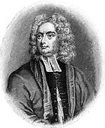 Jonathan Swift (1667-1745) Anglo-Irish satirist, poet and cleric. Engraving.