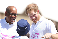 File photo dated 26/11/15 of Prince Harry with Prince Seeiso of Lesotho (left) and Mutsu Potsane. The Duchess of Sussex looks set to have turned to her inner circle of faithful friends for son Archie's godparents.