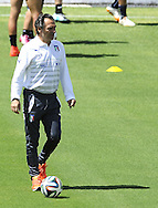 Italy head coach Cesare Prandelli during training at Portobello Resort, Natal<br /> Picture by Stefano Gnech/Focus Images Ltd +39 333 1641678<br /> 22/06/2014