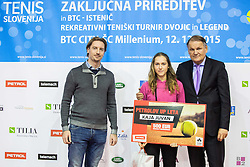 Kaja Juvan at Istenic doubles Tournament and Slovenian Tennis personality of the year 2015 annual awards presented by Slovene Tennis Association TZS, on December 12, 2015 in Millenium Centre, BTC, Ljubljana, Slovenia. Photo by Vid Ponikvar / Sportida