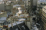 France. Paris. elevated view. Saint martin street  view from the church bell tower  Saint Nicolas des champs, 75003
