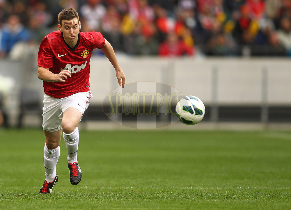 Marnick Vermijl of Manchester United during the Football Invitational 2012 match between Ajax Cape Town and Manchester United held at Cape Town Stadium on 21 July 2012 in Cape Town, South Africa..Photo by Shaun Roy / Sportzpics