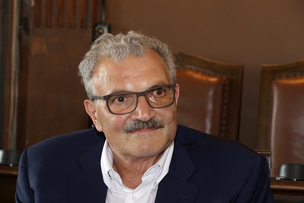 Romeo Meo Sacchetti<br /> Conferenza Stampa Presentazione Italia - Croazia FIBA Basketball World Cup 2019 Qualifiers<br /> FIP 2018<br /> Trieste, 07/06/2018<br /> Foto Ciamillo-Castoria