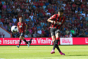 Philip Billing (29) of AFC Bournemouth shoots at goal during the Premier League match between Bournemouth and Everton at the Vitality Stadium, Bournemouth, England on 15 September 2019.