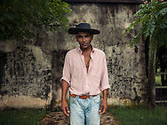 Robert Da Silva - Portrait - Gaucho, storyteller and researcher on rural education. Curtina, Tacuarembo. <br />