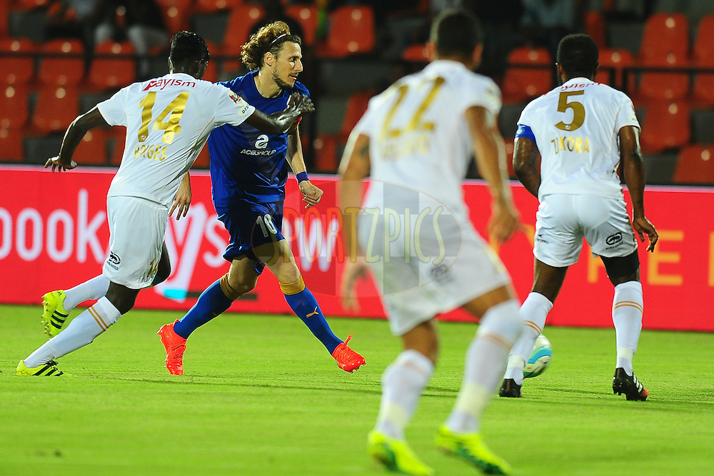 Sony Norde of Mumbai City FC during match 7 of the Indian Super League (ISL) season 3 between Mumbai City FC and NorthEast United FC held at the Mumbai Football Arena in Mumbai, India on the 7th October 2016.<br /> <br /> Photo by Faheem Hussain / ISL/ SPORTZPICS