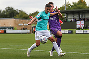 Forest Green Rovers Lloyd James(4) shields the ball during the EFL Sky Bet League 2 match between Forest Green Rovers and Port Vale at the New Lawn, Forest Green, United Kingdom on 8 September 2018.