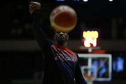 Marcus Delpeche of Bristol Flyers during the warm up - Photo mandatory by-line: Arron Gent/JMP - 20/11/2019 - BASKETBALL - Copper Box Arena - London, England - London Lions v Bristol Flyers - British Basketball League Cup