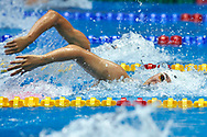Ashgabat, Turkmenistan - 2017 September 24: Donghyeok Jang from South Korea competes in Men's 200m Freestyle Final while Short Course Swimming competition during 2017 Ashgabat 5th Asian Indoor & Martial Arts Games at Aquatics Centre (AQC) at Ashgabat Olympic Complex on September 24, 2017 in Ashgabat, Turkmenistan.<br /> <br /> Photo by © Adam Nurkiewicz / Laurel Photo Services