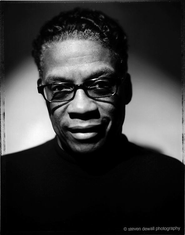 Herbie Hancock photographed at his home studio in West Hollywood