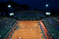 13.04.2010, Country Club, Monte Carlo, MCO, ATP, Monte Carlo Masters, im Bild A general view of a doubles match played under the floodlifghts  at the ATP Monte Carlo Masters tennis tournament held in the Monte Carlo Country Club, Monaco, between from the 12th to the 18th April. Mandatory credit: Mitchell Gunn. / SPORTIDA PHOTO AGENCY