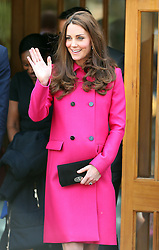 Kate, Duchess of Cambridge at Christ Church Gipsy Hill in south east London, UK. 27/03/2015<br />BYLINE MUST READ : JAMESY/GOTCHA IMAGES<br /><br />Copyright by &copy; Gotcha Images Ltd. All rights reserved.<br />Usage of this image is conditional upon the acceptance <br />of Gotcha Images Ltd, terms and conditions available at<br />www.gotchaimages.com