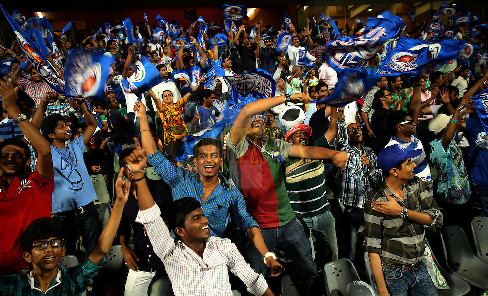 Fans Enjoys during match 22 of the Pepsi Indian Premier League Season 2014 between the Mumbai Indians and the Kings XI Punjab held at the Wankhede Cricket Stadium, Mumbai, India on the 3rd May  2014<br /> <br /> Photo by Sandeep Shetty / IPL / SPORTZPICS<br /> <br /> <br /> <br /> Image use subject to terms and conditions which can be found here:  http://sportzpics.photoshelter.com/gallery/Pepsi-IPL-Image-terms-and-conditions/G00004VW1IVJ.gB0/C0000TScjhBM6ikg