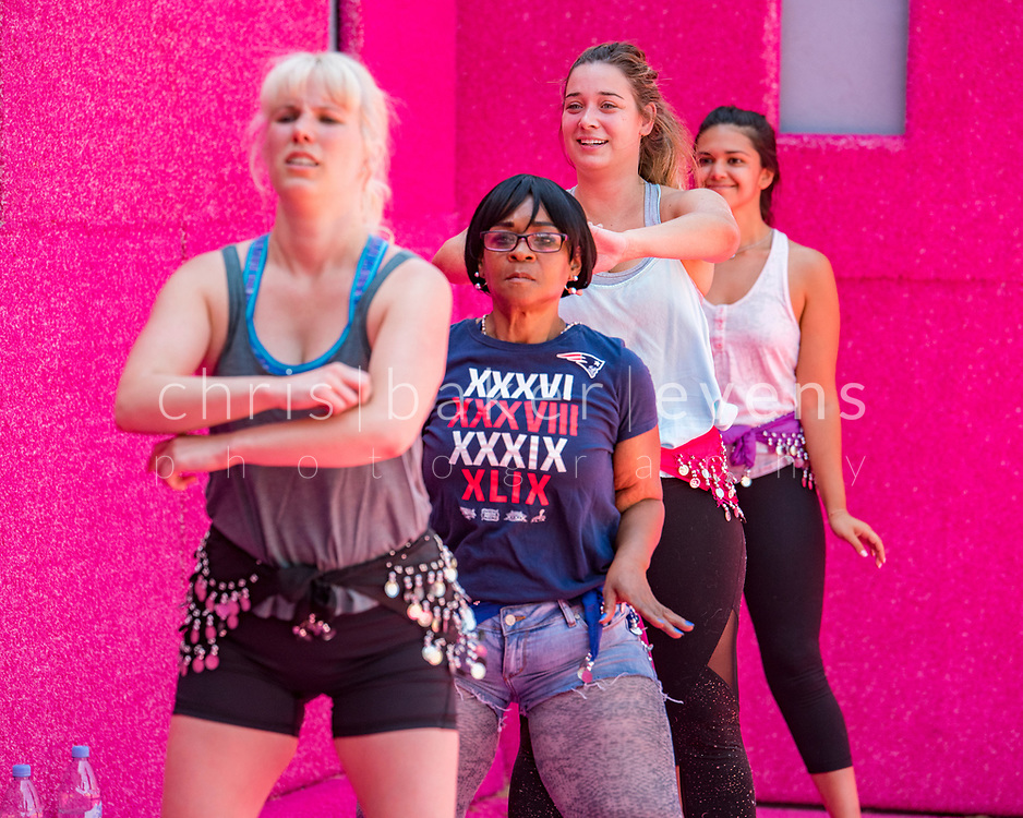 Kate wheeler instructor, works in City Philadelphia.<br /> Leslie tolan, Fishtown. Blue shirt<br /> Sabah Fishtown.<br /> Esterlina Fernandez, Foulkrod Street 56. 5 kids, 18 grand kids.