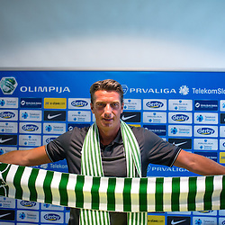 20140805: SLO, Football - Press conference of NK Olimpija with new sports director Milenko Acimovic