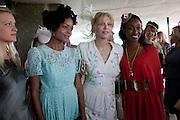 LADY ALEXANDRA GORDON-LENNOX; NAOMI HARRIS; COURTNEY LOVE; BEVERLEY KNIGHT,  IN THE DUKE OF RICHMOND BOX, Glorious Goodwood. Ladies Day. 28 July 2011. <br /> <br />  , -DO NOT ARCHIVE-© Copyright Photograph by Dafydd Jones. 248 Clapham Rd. London SW9 0PZ. Tel 0207 820 0771. www.dafjones.com.