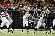 NEW ORLEANS, LA - NOVEMBER 11:  Matt Ryan #2 of the Atlanta Falcons throws a pass against the New Orleans Saints at Mercedes-Benz Superdome on November 11, 2012 in New Orleans, Louisiana.  The Saints defeated the Falcons 31-27.  (Photo by Wesley Hitt/Getty Images) *** Local Caption *** Matt Ryan