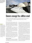 A reportage about Ecopro, the biggest plant to recycle household and other organic waste in Norway (2010), in a special issue on green energy, published by Fagbladet (Fellesforbundet).