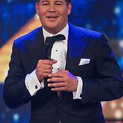 NLD/Hilversum/20130706 - Finale X-Factor 2013, presentator Martijn Krabbe