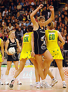 Irene Van Dyk (NZ)<br /> Netball - Australia vs New Zealand<br /> 2007 International Test Series<br /> Vodafone Arena, Melbourne Australia<br /> Saturday 21 July 2007<br /> © Sport the library / Jeff Crow