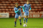 Forest Green Rovers Junior Mondal(25) runs forward during the EFL Trophy match between Walsall and Forest Green Rovers at the Banks's Stadium, Walsall, England on 12 November 2019.