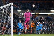 SYDNEY, AUSTRALIA - AUGUST 07: Sydney FC player Andrew Redmayne (1) goes up for the ball during the FFA Cup round of 32 football match between Sydney FC and Brisbane Roar FC on August 07, 2019 at Leichhardt Oval in Sydney, Australia. (Photo by Speed Media/Icon Sportswire)