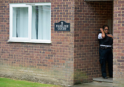 © Licensed to London News Pictures. 19/07/2019.<br /> Beckenham ,UK. Police have launched a murder investigation after the body of a woman was found at a residential address in Beckenham, South East London. Police were called on Thursday 18th July. She was pronounced dead at the scene.  Photo credit: Grant Falvey/LNP