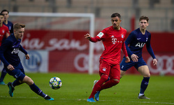 MUNICH, GERMANY - Wednesday, December 11, 2019: Bayern Munich's Oliver Batista Meier during the final UEFA Youth League Group B match between FC Bayern München and Tottenham Hotspur at the FC Bayern Campus. (Pic by David Rawcliffe/Propaganda)