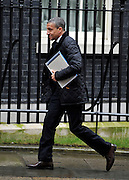 © Licensed to London News Pictures. 22/02/2012, London, UK. Chris Hughton arrives for the summit. The UK Prime Minister holds a summit at Downing Street on racism in football. Photo credit : Stephen Simpson/LNP