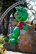 Varginha_MG, Brasil...Estatua do E.T. de Varginha na Praca Marechal Floriano...Varginha Statue E.T. in Marechal Floriano square...Foto: LEO DRUMOND / NITRO.....
