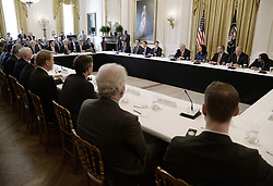 June 22, 2017 - Washington, District of Columbia, United States of America - United States President Donald J. Trump participates in the American Leadership in Emerging Technology Event in the East Room of the White House in Washington, DC, on June 22, 2017. .Credit: Olivier Douliery / Pool via CNP (Credit Image: © Olivier Douliery/CNP via ZUMA Wire)